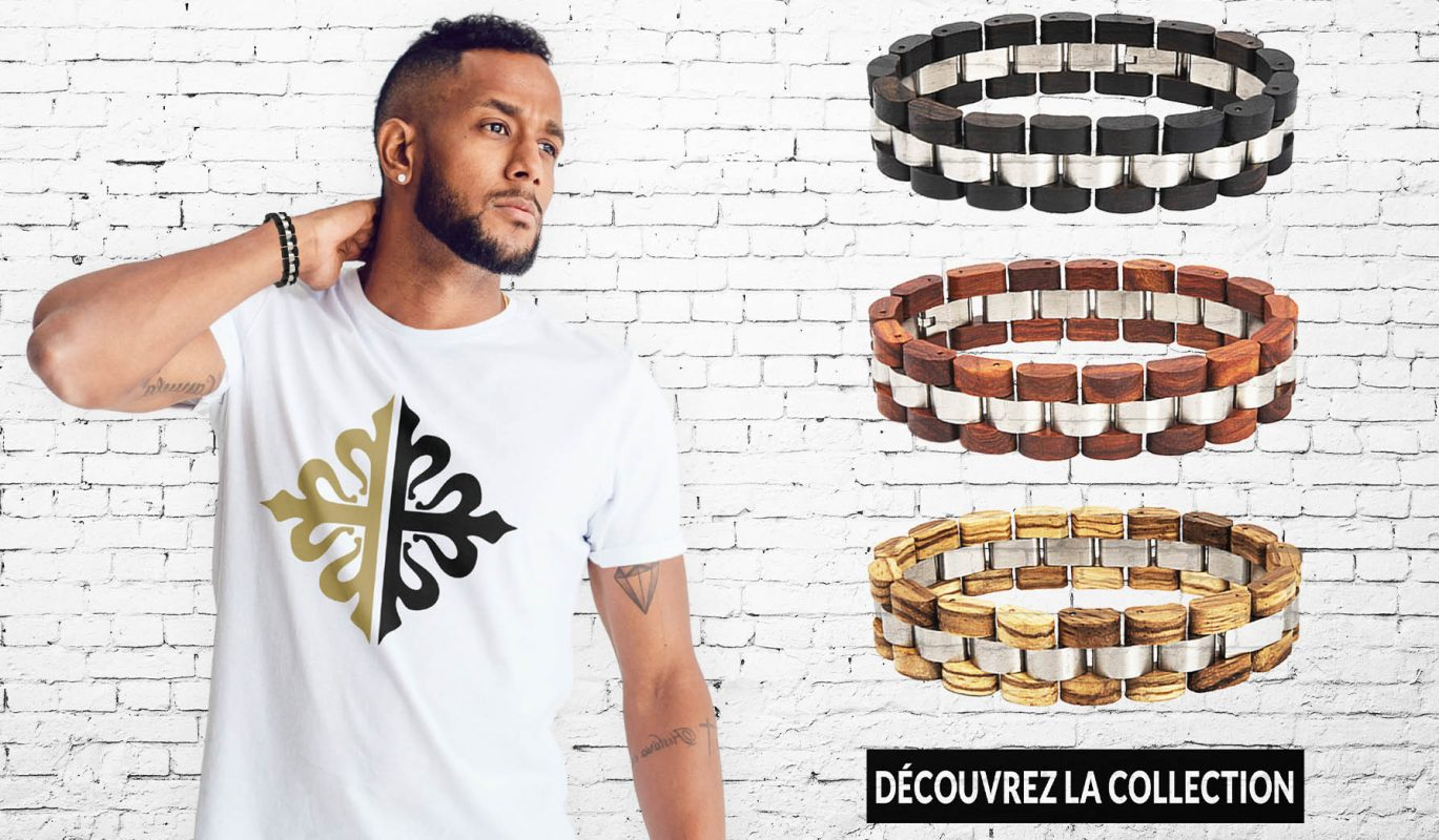 Bracelets en bois pour homme collection sur Bracelets-tendances.fr