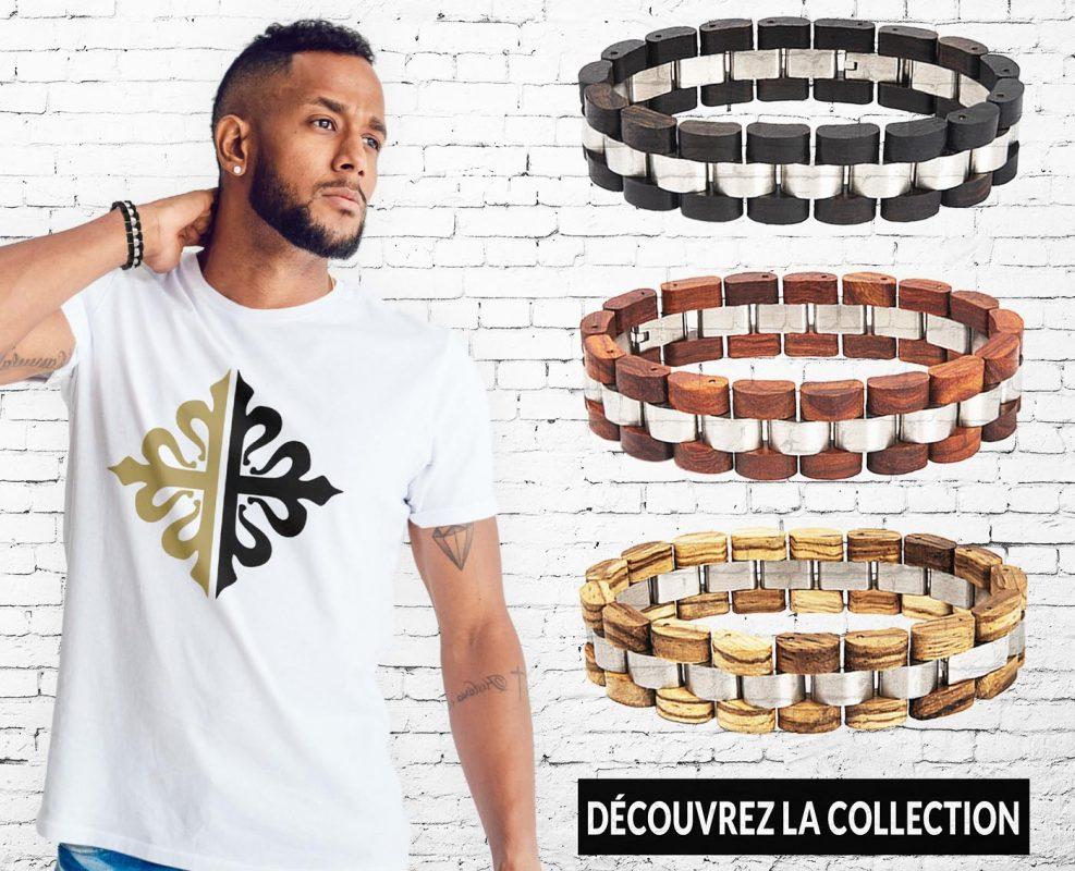 Bracelets Bois Homme Collection sur Bracelets-tendances.fr