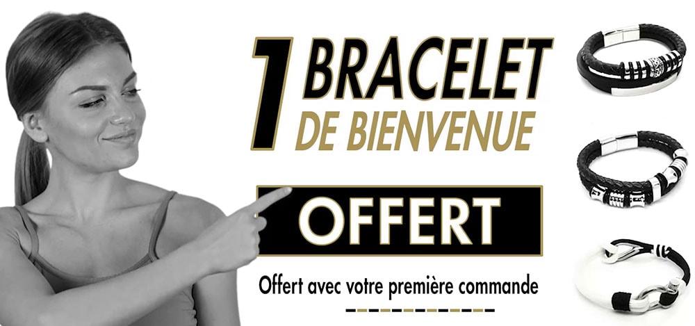 Un bracelet de bienvenue offert sur Bracelets Tendances